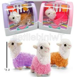 1 Pet Shop Toy Llama Alpaca + Carrying Case Kids Doll Stuffe