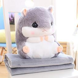 LemonGo 2 In 1 Plush Hamster Stuffed Animal Toys Plush Pillo