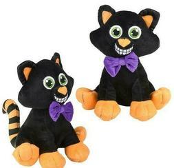 "10"" Black Cat Halloween Plush Stuffed Animal"