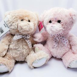 "10"" Easter Sparkly Bear Plush Stuffed Animal NEW Tan"