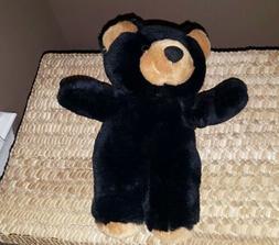 10 Inch Cute Playful Black Bear Plush Stuffed Animal By Auro