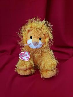 "10"" Ty Punkies Orange Lion Stuffed Animal Plush Toy FREE Shi"