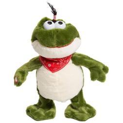 "11"" Electronic Plush Frog Toys Interactive Stuffed Animal Mu"