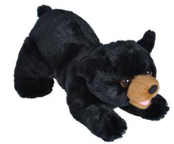 12 Inch Playful Black Bear Plush Stuffed Animal by Wild Repu