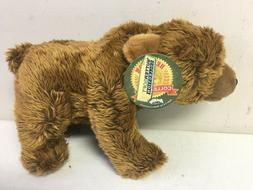 "12"" Floppy Grizzly Bear Plush Stuffed Animal Kingdom Butter"