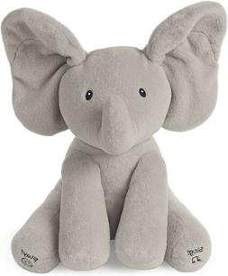 "12""Gray Baby Animated Flappy the Elephant Stuffed Animal Plu"