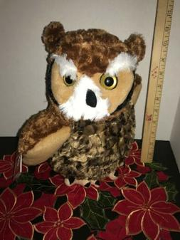 12 Inch CK Great Horned Owl Plush Stuffed Animal by Wild Rep