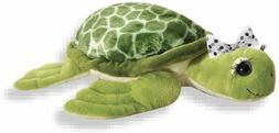 "The Petting Zoo 12"" Lash'z Sea Turtle, Green"