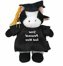12 plush cow in personalized graduation outfit