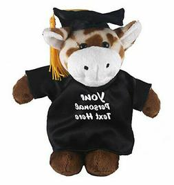 "12"" Plush Giraffe in PERSONALIZED Graduation Outfit Plush To"