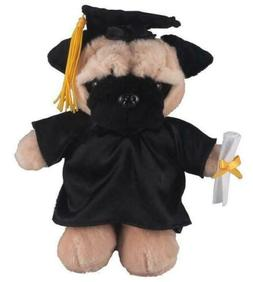 "12"" Pug Dog in PERSONALIZED Graduation Outfit Plush Toys Stu"
