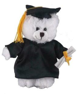 """12"""" White Bear in PERSONALIZED Graduation Outfit Plush Toys"""
