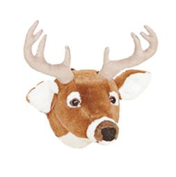 "12"" White Tailed Deer Head Plush Stuffed Animal Toy - New"