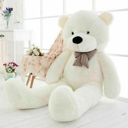 120cm White Teddy Bear Plush Stuffed Animals Soft Doll Xmas