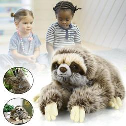 "13.7""Sloth Plush Animals critters Lying Three Toed Cuddly So"