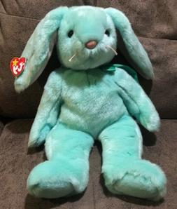"13"" Ty Mint Green Rabbit Hippity 1998 NWT Plush Easter Bunny"