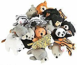 Fun Express 13696586 Plush Mini Zoo Animal Assortment