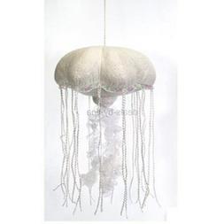"""14"""" White Jellyfish Glittered Plush Stuffed Animal Toy by Fi"""