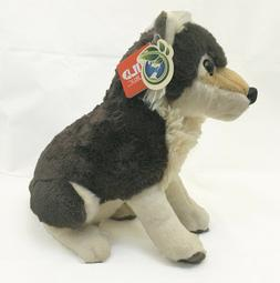 """Wild Republic 14"""" Wolf Plush Toy  Soft Furry and Adorable"""