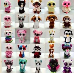 15CM TY Beanie Boos Plush Toy Soft Kinds Big Eyes Baby Stuff