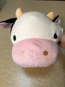 "Mochipuni 18"" Cow Plush Large Black, White, Pink - Round One"