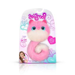 Pomsies 1882 Pinky Plush Interactive Toys, One Size, Pink/Wh