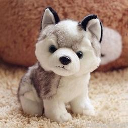 18cm Plush Stuffed Husky Dog Puppy Toy Doll Birthday Girl Ba