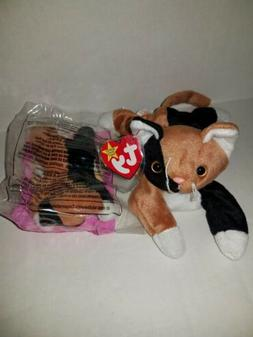 1996 Ty Beanie Babies Chip the Cat with teenie beanie baby /