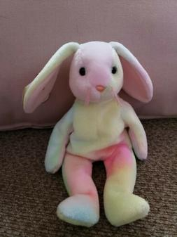 1998 Ty Beanie Baby HIPPIE the Ty-Dye Bunny #1, RETIRED, MWM