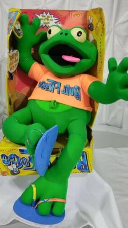 "1998 Ohio Art BULL FROGG 22""  Plush Stuffed Animal Interacti"