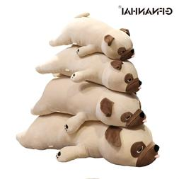1pc 55-90CM Cute <font><b>Pug</b></font> Dog Plush Toys <fon