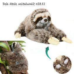 1PCS Cute Giant Sloth Stuffed Plush Animal Doll Soft Toys Pi