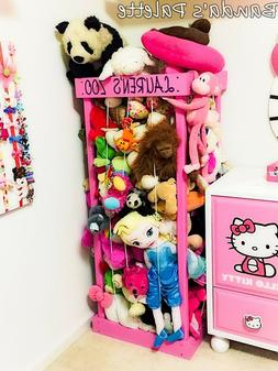 """2', 32"""", 3', 4' Personalized Stuffed Animal Zoo, Wood Animal"""