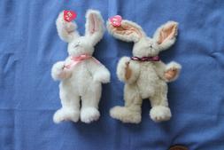 2 TY Bunny Stuffed Rabbits 1965