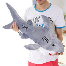 "20"" Shark Soft Toy Cuddly Plush Stuffed Animals Doll For All"