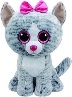 "New!  2017 Ty Beanie Boos KIKI the gray tabby Cat Large 16"""