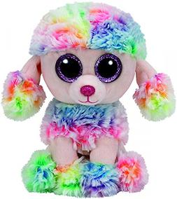 New! 2017 Release Ty Beanie Boos RAINBOW the Tie Dyed Poodle
