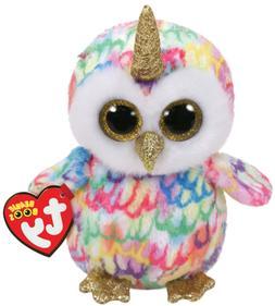 "TY Beanie Boos 6"" ENCHANTED Unicorn Owl w/ Horn Stuffed Anim"