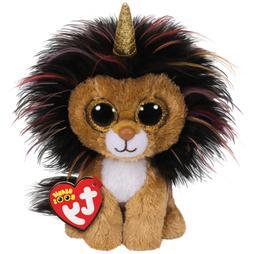 "TY Beanie Boos 6"" RAMSEY Unicorn Lion w/ Horn Stuffed Animal"