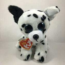 """TY Beanie Babies 6"""" CATCHER Dalmatian Dog Plush Stuffed Anim"""