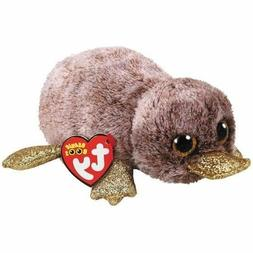 "TY Beanie Boos 6"" PERRY Brown Platypus Plush Stuffed Animal"