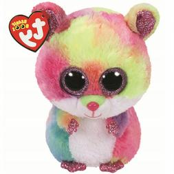 "2018 Ty Beanie Boos 6"" RODNEY Pink Hamster Stuffed Animal Pl"