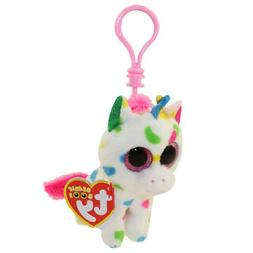New!  2018 Ty Beanie Boos HARMONIE the Unicorn Key Clip Size