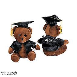 2018 Graduation Bear - Stuffed Animal Graduate Brown Black P