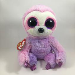 "TY Beanie Boos 6"" DREAMY Purple Sloth Plush Stuffed Animal T"