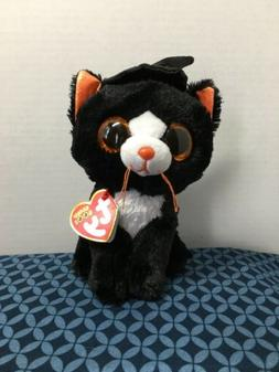 """2019 Ty Beanie Boos Halloween WITCHIE the Black Cat w/hat 6"""""""