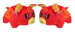 2019 Chinese New Year Lucky Pigs Plush Stuffed Animal Toy De