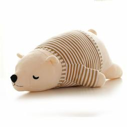 2019 new kawaii polar bear plush doll baby <font><b>super</b