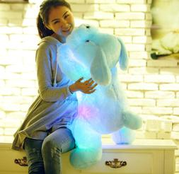 20inch Large LED Light Dog Stuffed Animal Soft Plush Doll Pi