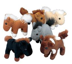 24 Plush Horses Lot Pony Party Favor Stuffed Animals Farm We